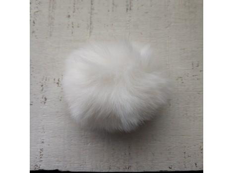 Помпон меховой белый