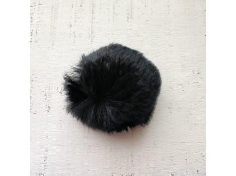 Помпон меховой черный