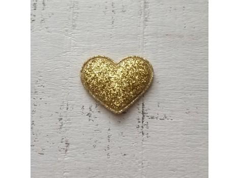 Патч сердечко золотистое