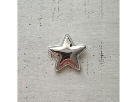 Патч звездочка лак серебристая