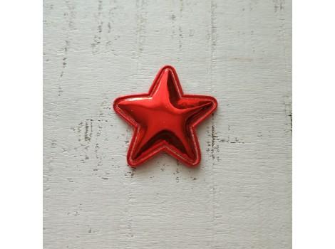 Патч звездочка лак красная