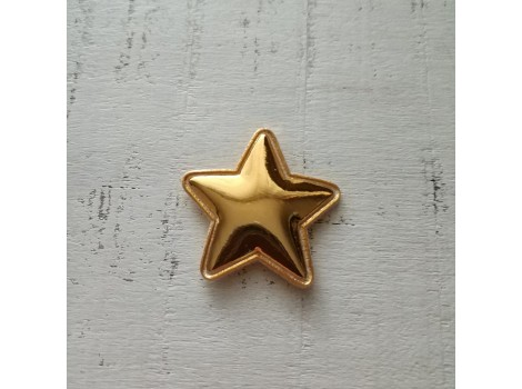 Патч звездочка лак золотистая