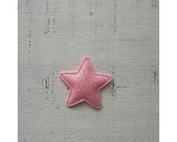 Патч звездочка розовая