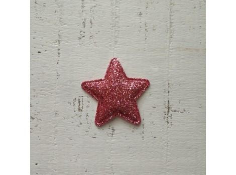 Патч звездочка темно-розовая