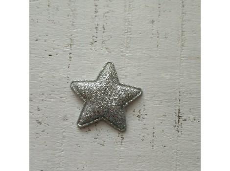 Патч звездочка серебристая