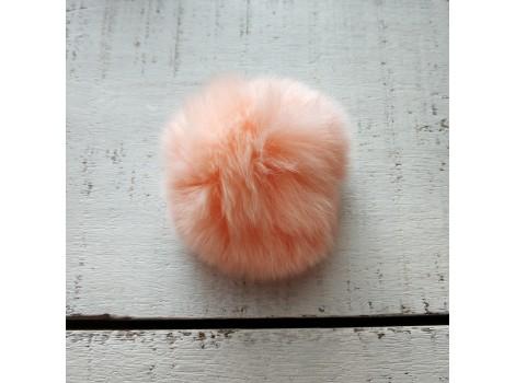 Помпон меховой персиковый