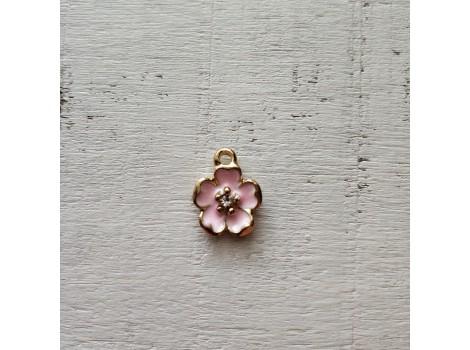 Подвеска цветочек розовый