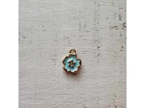 Подвеска цветочек голубой