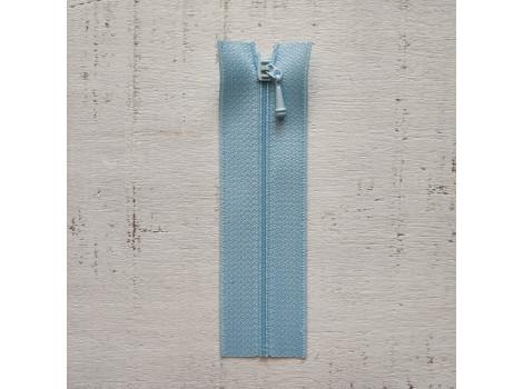 Молния вшивная 7 см голубая