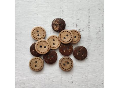 Кокосовые пуговицы 1.5 см