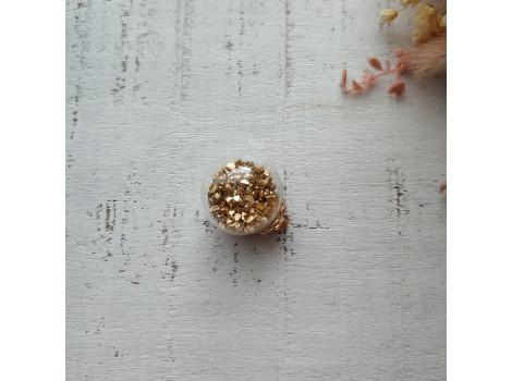 Подвеска шарик с блестками золото
