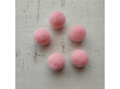 Мини-помпон для декора нежно-розовый