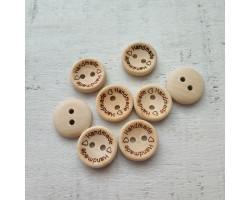 Деревянные пуговицы Handmade 1.5 см
