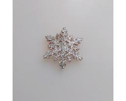 Патч снежинка серебристая