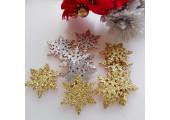 Патч снежинка золотистая