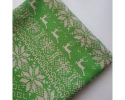 Хлопок Сканди олени на зеленом