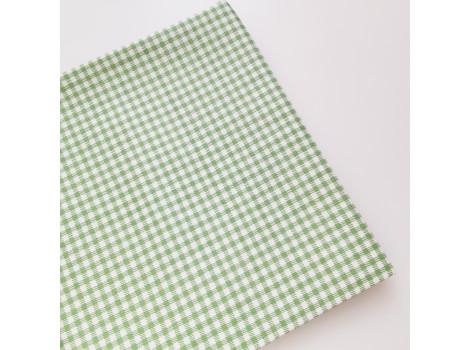 Хлопок в мелкую зеленую клеточку 3 мм