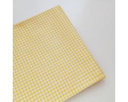 Хлопок в мелкую желтую клеточку 3 мм