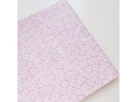 Хлопок с мелкими сиренево-розовыми цветочками