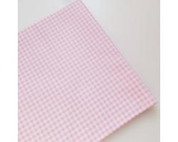 Хлопок в мелкую нежно-розовую клеточку 3 мм