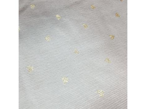 Микровельвет средней плотности светло-серый с золотыми сердечками
