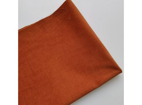 Микровельвет средней плотности темная карамель