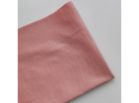 Микровельвет тонкий пудрово-розовый