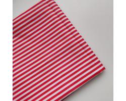 Хлопок в красно-белую полоску 4 мм