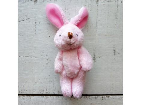 Игрушка плюшевый зайка большой розовый