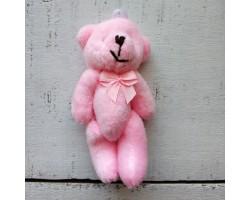 Игрушка мишка с бантиком розовый