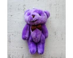 Игрушка мишка с бантиком фиолетовый