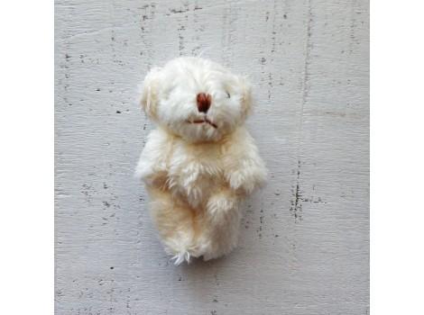 Игрушка плюшевый мишка малый 4 см белый