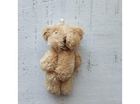 Игрушка плюшевый мишка малый 6 см бежевый