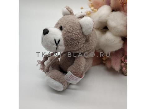 Игрушка Nici медвежонок серый с капюшоном