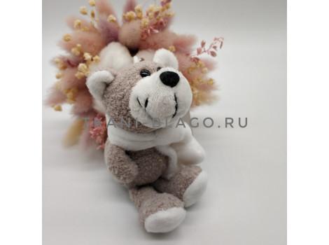 Игрушка Nici мишка серый с шарфом