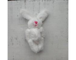 Игрушка плюшевый зайка малый снежно-белый