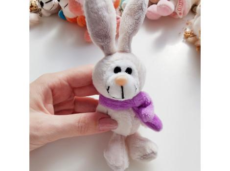 Игрушка Nici зайка с фиолетовым шарфом