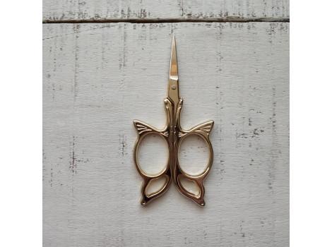 Ножницы металлические золотистые бабочка