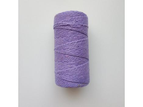 Шнур хлопковый 2 мм сиреневый