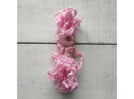 Шебби-лента розовый тюльпан