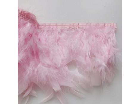 Перья на ленте нежно-розовые цена за 0.5 м
