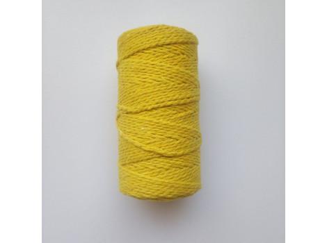 Шнур хлопковый 2 мм желтый