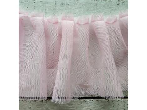 Рюша из фатина 10 см розовая