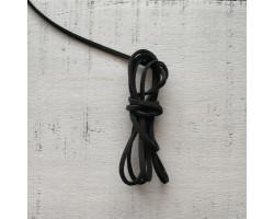 Шнур замшевый черный