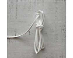 Шнур замшевый белый