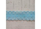 Кружево капроновое разрывное голубое