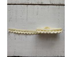 Хлопковое кружево зубчики желтое