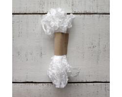 Шебби-лента кристально белая