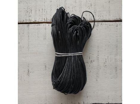 Вощеный шнур 1 мм черный