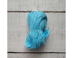 Вощеный шнур 1 мм голубой